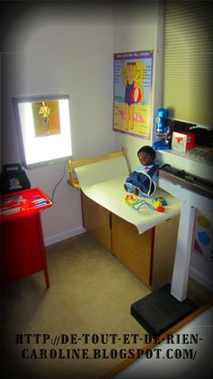 A visit to the medical clinic in your dramatic play area. Some tips to find some cool and real items to add to your props.
