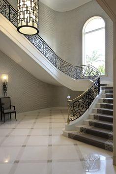 Floors Built On A Design With Three Marbles That Fade From White To Dark  Gray.