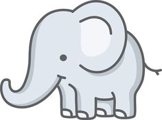 vector illustration of a little baby elephant Elephant Drawing For Kids, Elephant Doodle, Elephant Stencil, Elephant Images, Cartoon Elephant, Art Drawings For Kids, Elephant Art, Cute Elephant, Cute Drawings