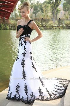 black and white wedding dresses 2013  1.MOQ:1Piece   2.Fabric:Tulle/Satin/lace    3.Reasonable price high quality fast delivery