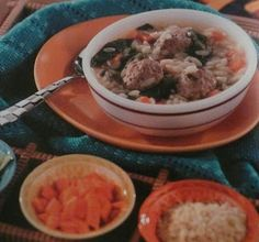 A wonderful hearty ITALIAN MEATBALL SOUP for the kids, and made BY the kids, from Junior Leagues in the Kitchen with Kids....enjoy!