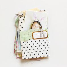 Picture 8 of A & D Tag Mini Album by stephaniebryan Mini Albums Scrap, Mini Scrapbook Albums, Create Photo Album, Project Life Scrapbook, Book Letters, Mini Books, Flip Books, Baby Album, Paper Book