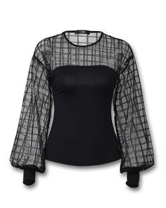 Sheer Grid Mesh Casual Blouse Source by tomeikas casual Clothes To Order, Clothes For Women, Blouse Styles, Blouse Designs, African Fashion Dresses, Fashion Outfits, Blouse Online, Plus Size Blouses, Lace Tops