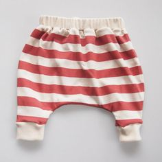 Lightweight Hand Printed Organic Cotton Baby Slouch Pants - Red Stripes on Cream My Baby Girl, Baby Love, Fashion Moda, Baby Crafts, Slouchy Pants, Baby Wearing, Kids Wear, Kids Fashion, Babies Fashion