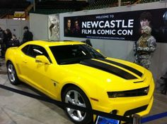 The Awesome Yellow Bumble Bee Camaro from The Transformers Movie - This was on display at the Newcastle Film  Comic Con Convention 2014