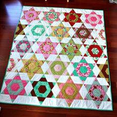 Aqua Reef Studios | the Quilt or Stitch Blog: Hexagon Quilt Finished