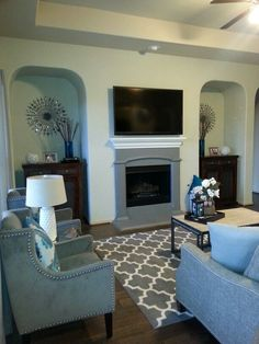 Teal And grey living room - Yahoo Search Results