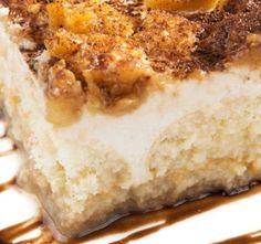 tiramisu recipe mascarpone cheese pinterest | Jabolčni tiramisu | Apple tiramisu with mascarpone cheese