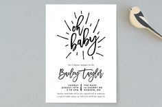 Oh Baby! Baby Shower Invitations by Christine Tayl... | Minted
