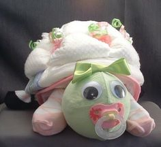 Turtle Baby Shower Theme | TURTLE Diaper Cake TOPPER Baby Shower Decorations - Keepsakes & Baby ...