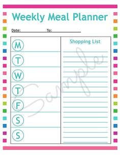 How to meal plan and free blank weekly meal planning sheet