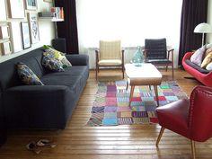 Love the homemade rug.