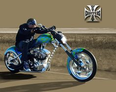 West Coast Choppers ! Man i loved watching Jesse do his thing , before all the network people drove him crazy ! Jesse is awesome at all he does . Bikes , cars and Firearms !!! Thanks Jesse for all the works of art you've done over the years..............