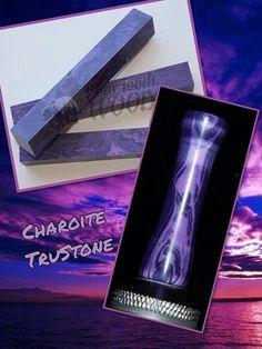 Charoite Web TruStone Drip Tip by AngelsHeavenlyDesign on Etsy, $30.00