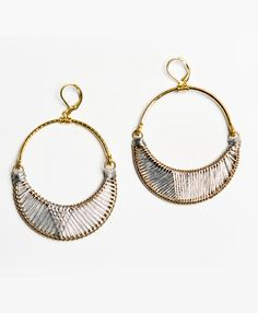 Silver threads wrap around a brass crescent moon for some sweet and subtle glimmer.  fair wages, education, financial and technical assistance, and enjoy safe working conditions