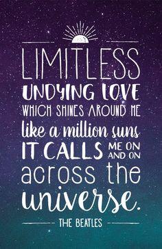 Beatles Lyrics Quote Poster - Across the Universe
