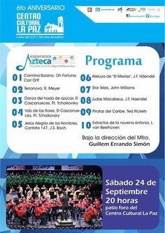Concierto Esperanza Asteca, 24-sep, Centro Cultural La Paz, La Paz