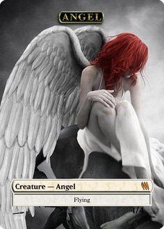 MtG Full Altered Art 4/4 Angel token by ShizzlerMtG on Etsy
