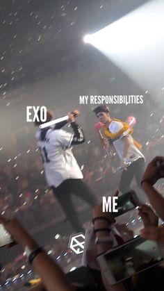 The EXO-L Life<<< yeah let's beat the shit out of responsibilities Sehun, Kpop Exo, Exo Kai, Park Chanyeol, Exo Ot12, Chanbaek, Xiuchen, Kim Minseok, Exo Memes