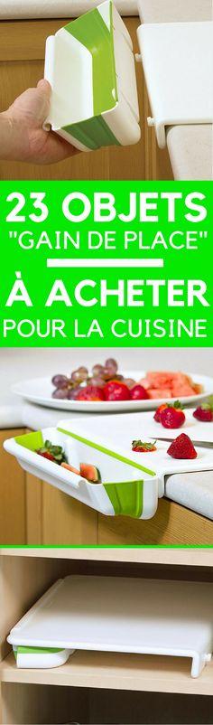 23 Objets « Gain de Place » Pour Optimiser l'Espace d'Une Petite Cuisine