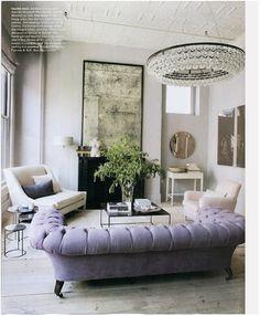 Classic Contemporary Living Room Chesterfield Chandelier Velvet Sofa