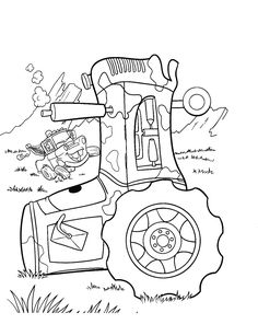 Online Tractor Coloring Sheets For Preschoolers Transportation
