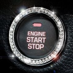 Rhinestone Car Bling Ring Emblem Decal, Bling Interior Car Accessories, Crystal Ring Decal For Car Button & Key Ignition, Knobs, Car Decor by Zusooz on Etsy Bling Car Accessories, Car Interior Accessories, Car Interior Decor, Car Accessories For Girls, Interior Design, Interior Paint, Jeep Compass Accessories, Cafe Interior, Luxury Interior