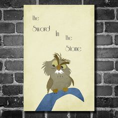 The Sword in the Stone movie poster Disney minimalist poster geekery art nursery print      This print was created using archival pigment inks,