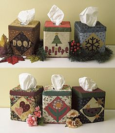 Free Seasonal Tissue Box Covers Pattern