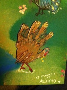 Turkey hand print painting
