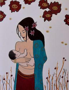 breastfeeding art catie atkinson spiritysol Mother Art, Mother And Child, Illustrations, Illustration Art, Nursery Drawings, Breastfeeding Art, Amazon Girl, Birth Art, Nurse Art