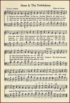 Little Birdie Blessings : Great is Thy faithfulness Gospel Song Lyrics, Christian Song Lyrics, Gospel Music, Christian Music, Music Lyrics, Jesus Music, Bible Songs, Praise Songs, Church Songs