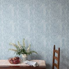 Speckled Wallpaper in Cloud Blue