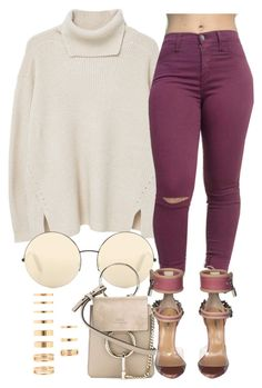 """""""12/28/16"""" by jasmineharper ❤ liked on Polyvore featuring MANGO, Victoria Beckham, Dsquared2, Chloé and Forever 21"""