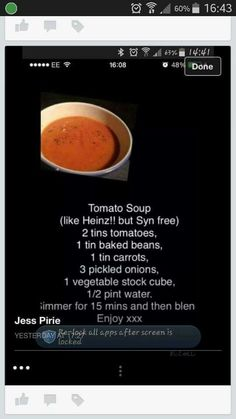 Tomato soup slimming world