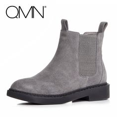 53.88$  Watch here - http://aiadz.worlditems.win/all/product.php?id=32795157676 - QMN women genuine leather ankle boots for Women Natural Cow Suede Chelsea Boots Slip On Leisure Shoes Woman Bootie Botas 34-43