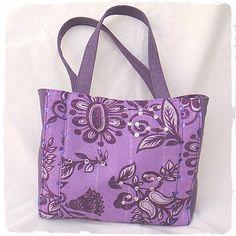 """Sac cabas """"Petite Miss"""" violet fait main en tissu : Sacs enfants par marissia"""