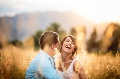 Perfect afternoon light plus an adorable couple created this batch of sun-drenched, outdoor engagement pictures near Boulder Colorado.