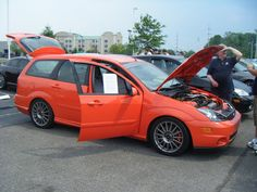 Red combi Ford Focus mk1 SVT #ST #RS