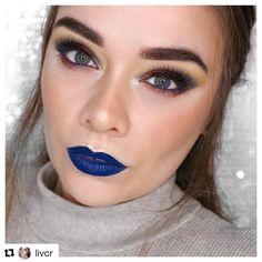 💙Blue Lip Goals💙 @livcr wearing Multitasker Pencil in 'Navy Denim'. Shop now @ www.saturatedcolour.com . . #bluelips #bbloggers #makeup #makeupinspo #satcolcosmetics #makeupartist #mua #cfbloggers #mattelips #weekend
