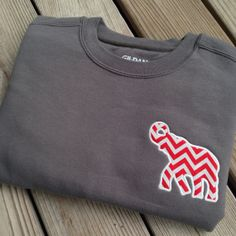 Sweatshirt with Alabama Elephant Chevron by SouthernKnitsbyLaura, $32.00