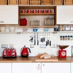 Kitchen Red Decor Accents And White Ideas