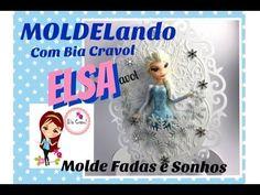 Elsa + Quadro com Renda de Biscuit- MOLDELando com a Bia