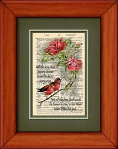 Dictionary Print  All The Love That History Knows by PagesOfAges, $7.00
