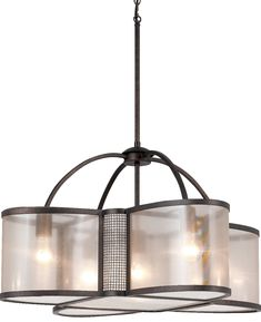 Akron dark brushed bronze wire mesh drum pendant light 20wx46h bronze chandelier sheer organza shades 5 lights 28wx16h greentooth Image collections