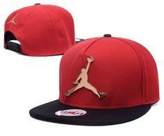 Mens Air Jordan The Jumpman Iron Gold Metal Logo A-Frame 2016 Big Friday Deals Snapback Cap - Red / Black
