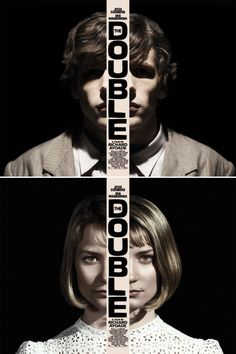 /// The Double:  Jesse Eisenberg + Mia Wasikowska in Richard Ayoade's adaptation of the Dostoyevsky novella.