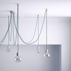 Stropný decentralizér - háčik pre textilné káble, transparentný (4) Transparent, Kit, Ceiling Lights, Ceiling Rose, White Ceiling, Track Lighting, Crochet, Chandelier, Textiles