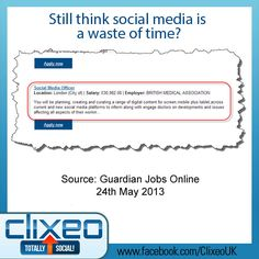 Who would have thought even a few years ago that we'd paying social media managers professional salaries?