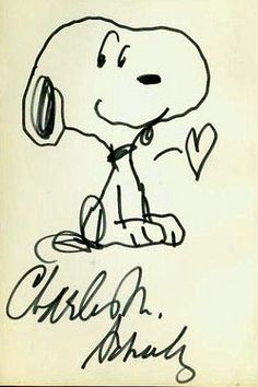 Charles Schulz Snoopy sketch